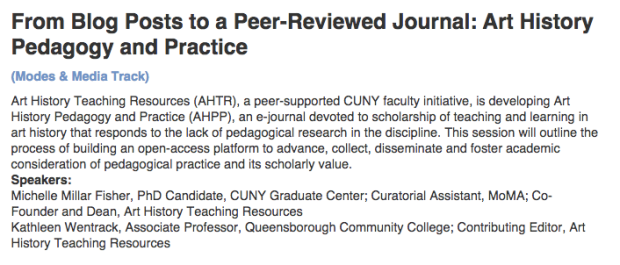 AHTR at the 2015 CUNY IT Conference